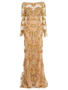 ZUHAIR MURAD Floral Embellished Gown. Why does the gown of my dreams have to be over $14,000 :(