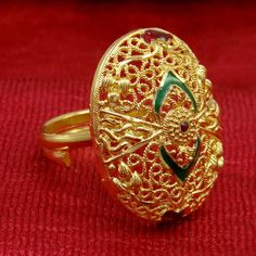 Indian Traditional Gold Plated Ring.
