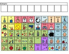 Core Board by Jennifer Thomas via Boardmaker Achieve Preschool Learning, Teaching, Assistive Technology, Speech And Language, Speech Therapy, Autism, Vocabulary, Communication, Core