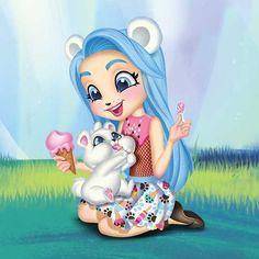 Patter Peacock™ y Flap™ : Enchantimals Cute Cartoon Girl, Cartoon Art, Beautiful Fairies, Beautiful Dolls, Cute Images, Cute Pictures, Image Nice, Shoppies Dolls, My Little Nieces