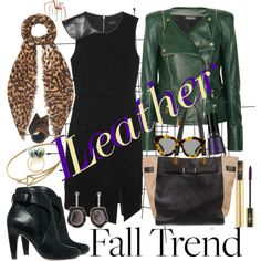 """""""Fall Trend: Leather!"""" by minniesoda on Polyvore"""