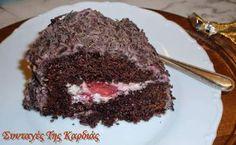 ΣΥΝΤΑΓΕΣ ΤΗΣ ΚΑΡΔΙΑΣ: Σοκολατένιο κέικ γεμιστό με φράουλες Desserts, Recipes, Greek, Cakes, Food, Tailgate Desserts, Deserts, Cake Makers, Kuchen