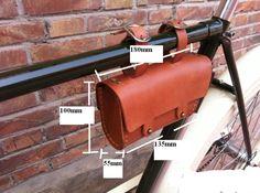 Vintage Fixie bike Frame Rack Tube Bag