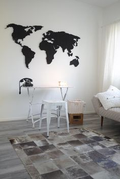 World on the wall Acoustic Design, Acoustic Panels, Font Styles, Home Art, Colorful Backgrounds, Wall, House, Decoration, Interior Ideas