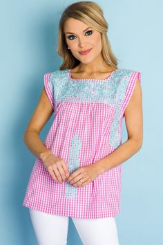c7d433bc838 ... Blue Door Boutique. Helllo spring! The prettiest pop of mint  embroidery