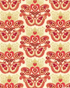 Sweetheart - Paisley Delights - Ivory/Gold