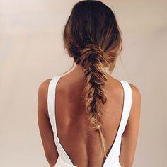 Fish tail #updo - hair braid