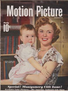 July 1949 Motion Picture featuring Shirley Temple and daughter, Linda Susan