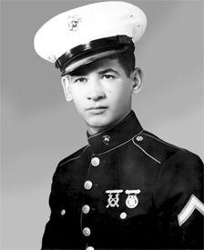 Private First Class Eugene A. Obregón, US Marine Corps Medal of Honor recipient Seoul, Korea September 26, 1950.