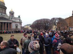 Russians protest against the Russian invasion of Ukraine. Fantastic!