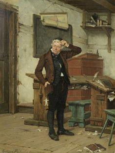 The irate schoolmaster - Gérard Jozef Portielje (Belgian, 1856-1929)