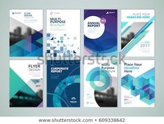 Brochure, annual report, flyer design templates in size. Set of vector illustrations for business presentation, business paper, corporate document cover and layout template designs. - Buy this stock vector and explore similar vectors at Adobe Stock Annual Report Layout, Annual Report Covers, Cover Report, Annual Reports, Flugblatt Design, Design Plat, Web Design Trends, Design Elements, Report Design Template