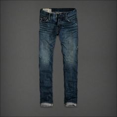 Abercrombie and Fitch Mens Jeans Destroyed Donker Wash Ireland ...