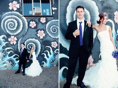 Colorful Blue, Purple + Orange Wedding in Edmonton, Alberta - Modernly Wed