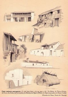 Portugal, Sun House, Bohemian Patio, Architecture Concept Drawings, Portuguese Culture, Vernacular Architecture, Algarve, Natural Beauty, Sketches
