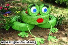 Playground com reciclagem de pneus   Pra Gente Miúda