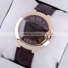 #Cartier #Ballon Bleu fees stumour #menswatch in 18k rose gold black dial brown leather wide review