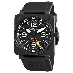 Bell & Ross Mens BR-01-93-GMT Aviation Black GMT