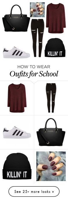 """""""Back to school"""" by amiinaaa on Polyvore featuring adidas Originals and MICHAEL Michael Kors"""