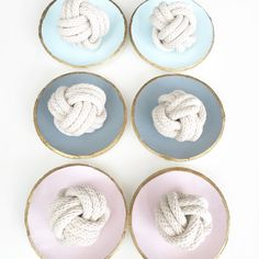 Maypole Design Clay Bowls and Rope Knots