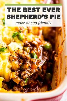 Homemade shepherd's pie is the ultimate comfort food. This simple recipe is made completely from scratch like the traditional, but uses ground beef instead of lamb for a more budget friendly family meal. Filled with healthy vegetables and super comforting Mince Recipes, Beef Recipes For Dinner, Ground Beef Recipes, Seafood Recipes, Cooking Recipes, Chicken Recipes, Beef Casserole Recipes, Sheppards Pie Recipe, Homemade Shepherd's Pie