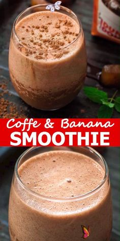 Coffee Banana Smoothie Rich, chocolaty and frothy, this Coffee Banana Smoothie makes a perfect breakfast or afternoon treat. This is one of the best smoothie recipes out there! Try it and you won't have any regrets! #coffee #banana #smoothie #drink #beverage #breakfast #brunch #workout #coffeelove #recipeoftheday<br> Smoothie Detox, Coffee Banana Smoothie, Banana Coffee, Smoothie Prep, Good Smoothies, Healthy Breakfast Smoothies, Smoothie Drinks, Protein Smoothies, Healthy Breakfasts
