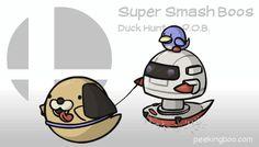 Super Smash Boos - Duck Hunt and R.O.B. by PeekingBoo on deviantART