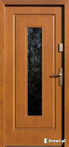 Drzwi AFB 572,2 - Drzwi.pl Wooden Glass Door, Wooden Doors, Glass Doors, Wood Front Doors, Steel Doors, Exterior Doors, Door Design, Brighton, Tall Cabinet Storage