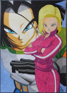 No17 No18 Dragon Ball Super by Akaw