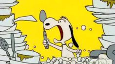 This is how I feel about dishes when they get out of control!