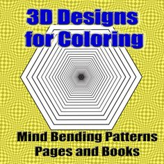 Fabulous art #coloring for teens and adults, 3D design coloring books will challenge your attention with mindbending lines, patterns and three dimensional drawings waiting for colors.