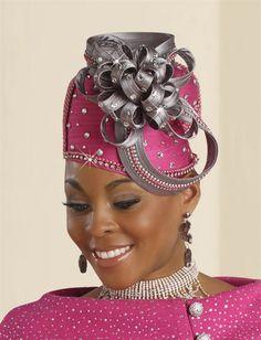 154c4698071 Rhinestone Embellished Satin Ribbon Bow Hat Church Fashion