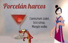 Koccints Disney-koktélokkal! Mango Vodka, Cosmopolitan, Bartender, Disney, Ronald Mcdonald, Sweets, Drinks, Fictional Characters, Drinking
