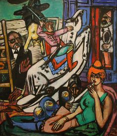 Max Beckmann, Beginning - MMA, NY Center panel of the triptychs