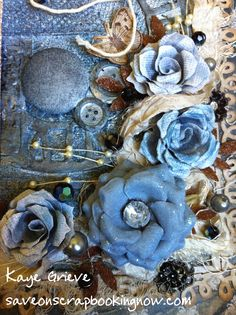 These are samples of roses made with Tim Holtz's Pine Cone Die. It is a great rose and easy to make once you know how. Click here for full instructions and a video.
