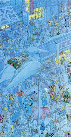 Moebius.  Lots of stories here!  Could pick a person/character & take it from there.  Makes me think of the Discworld.