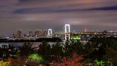 Overlooking Tokyo City Tokyo City, Rainbow Bridge, San Francisco Skyline, Holiday, Travel, Vacations, Trips, Traveling, Holidays