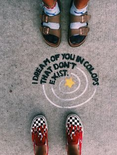 See more of content on VSCO. Vsco, Sidewalk Chalk Art, Chalk Drawings, Happy Vibes, Summer Aesthetic, My Vibe, Cute Quotes, Cool Words, Pictures