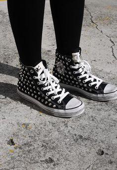 Custom Converse Chuck Taylor Studded Sneaker. Stud spike