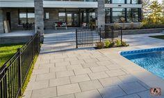 Dalle et marche prestige gris granite | Prestige slab and step, granite gray