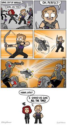 Hawkeye's New Weapon. I <3 Hawkeye!!!