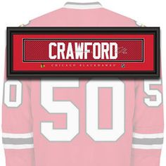 Chicago Blackhawks - Corey Crawford - NHL Jersey Name Patch
