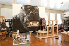 Walton Ford's Massive King Kong Watercolors - ELLE