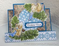 Penny Black, Sharing Christmas, Center-Step-Card, Waltzing Mouse Nordic Winter