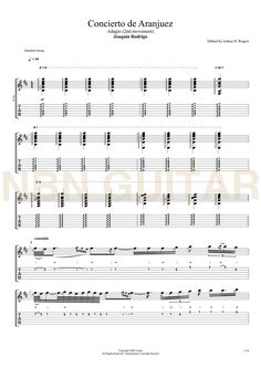 Concierto de Aranjuez (Adagio) - Joaquin Rodrigo (Sheetmusic & Tabs) Guitar Chord Chart, Guitar Chords, Music Lessons, Guitar Lessons, Classical Guitar Sheet Music, Twist Of Fate, Reading Music, Transcription, Music Theory