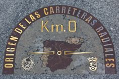 Sign plaque on the street floor marking the kilometre zero from which all the distances in the roads in Spain are Print Framed, Poster, Canvas Prints, Puzzles, Photo Gifts and Wall Art Madrid City, Foto Madrid, Fine Art Prints, Framed Prints, Travel Images, Poster Size Prints, Tour, Valencia, Photo Puzzle