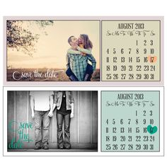 printable calender save the date;; so cute, awesome idea :)