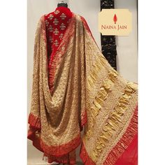 When Bandhani from the west meets the traditional colours from the east. At Naina Jain we redefine - nainajainkolkata