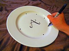 September's Easy DIY Craft: Monogrammed Plates