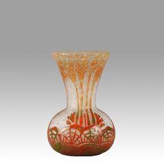 Authentic ART Deco Cameo Glass Vase BY Schneider LE Verre Francais | eBay
